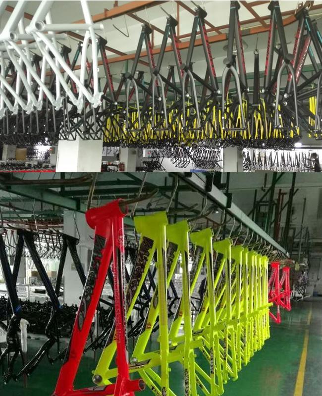 26erx2.50 bici de montaña de Hardtail del disco del marco de la bici ...